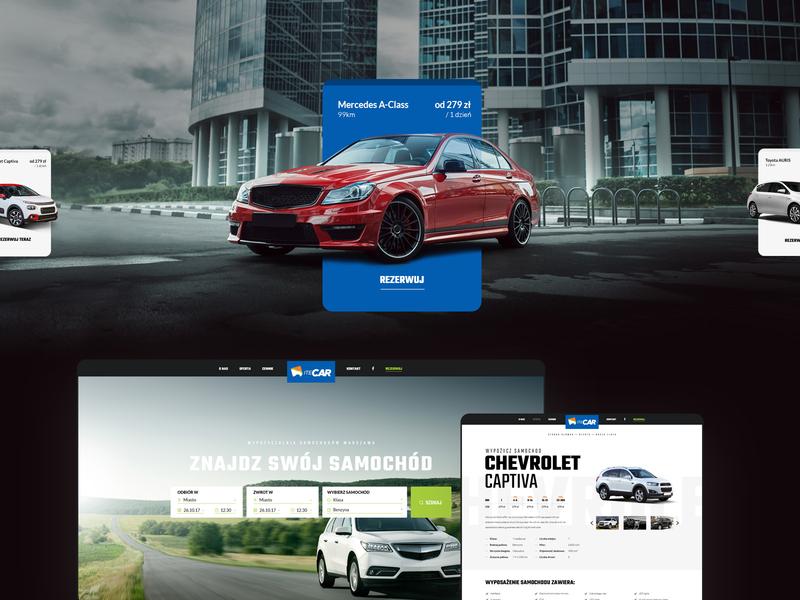 Itecar - car rental website and reservation interface reservation auto wiwi webdesign modern clean ux ui rental car website