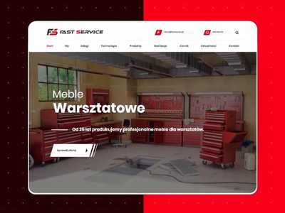 Workshop furniture for the mechanic website design