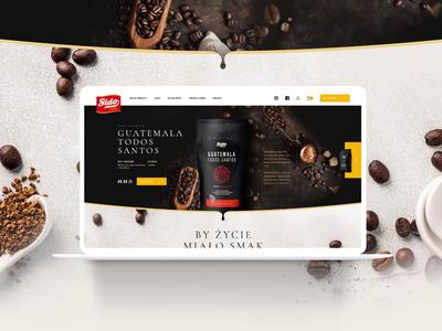 Sido - website for Polish coffee maker. creative sido wiwi webdesign animation interactive ux ui modern ecommerce coffee responsive website