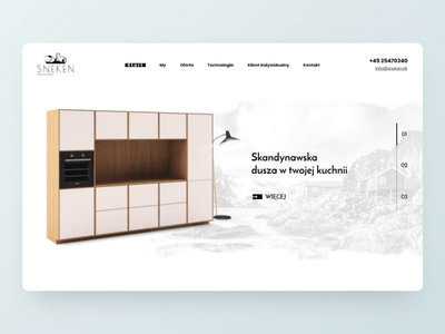 Scandinavian furniture design - Website Sneken