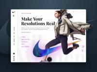 Nike Womens landing page