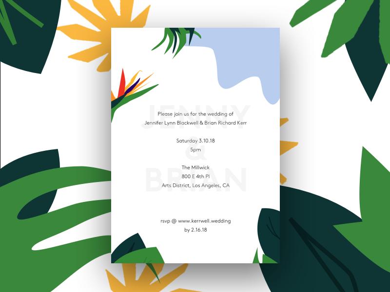 Wedding invitation #2 branding design invitation wedding print art direction