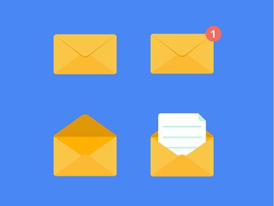 Envelopes icon set
