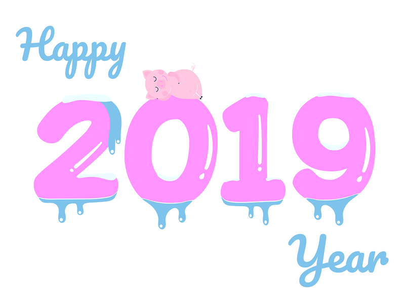 Happy New 2019 Year Poster By Konstantin Mironov Dribbble Dribbble