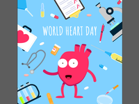 Poster for world heart day