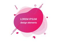 Modern liquid abstract gradient background