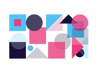 Abstract geometric shapes simple minimal background pattern