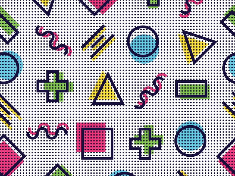 Memphis Pattern by Konstantin Mironov on Dribbble