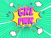 Girl Power pop art concept