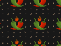 Chilie Seamless Pattern