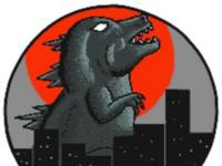 Godzilla Pixel Art - sticker design