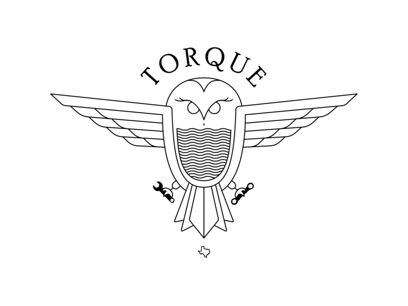 Torque houston rice texas torque bird illustration branding logo