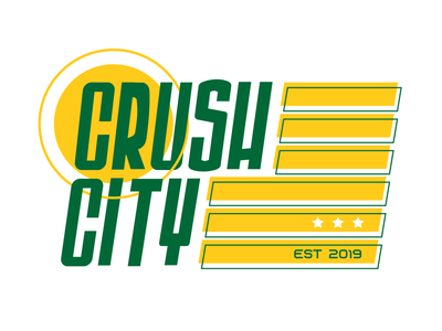 Crush City flag texas logo branding