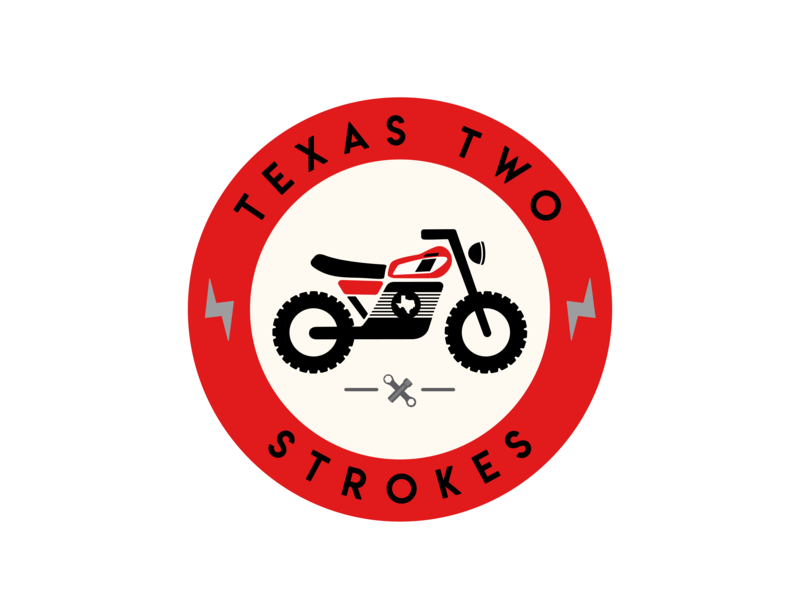 Texas Two Strokes yamaha texas motorcycle branding logo