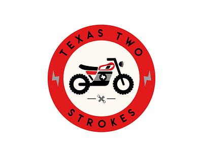 Texas Two Strokes yamaha texas motorcycle branding logo