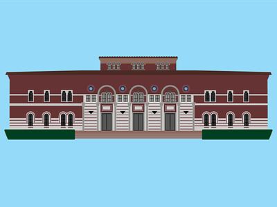 Baker Institute architecture houston institute baker vector illustration