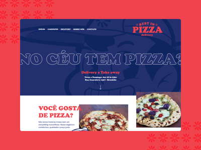 R.I.P. - Rest in Pizza layout redesign ux webdesign design interface web interface design homepage ui pizza
