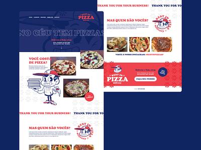 Rest in Pizza - Landing Page brand illustration web webdesign ux interface interface design ui layout design