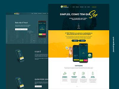 Redesign Tem Troco interface design landing page soon web design layout design redesign homepage layout ui design