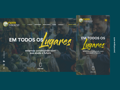 Tem Troco - Desktop and Mobile mobile web webdesign interface design homepage ui layout redesign design