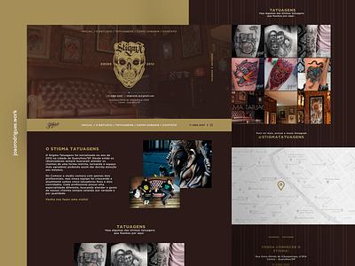 Stigma Tatuagens - Onepage site webdesign web interface design homepage ui layout design