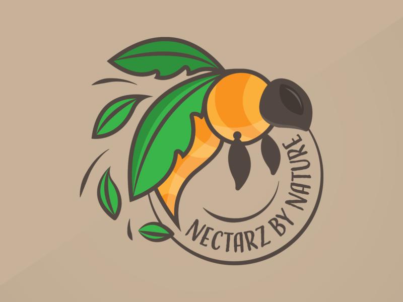 Nectarz By Nature nature bee logo branding logo design