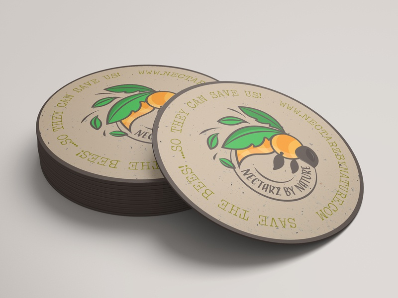 Save The Bees Coaster!.. 😇 bee logo branding nature design