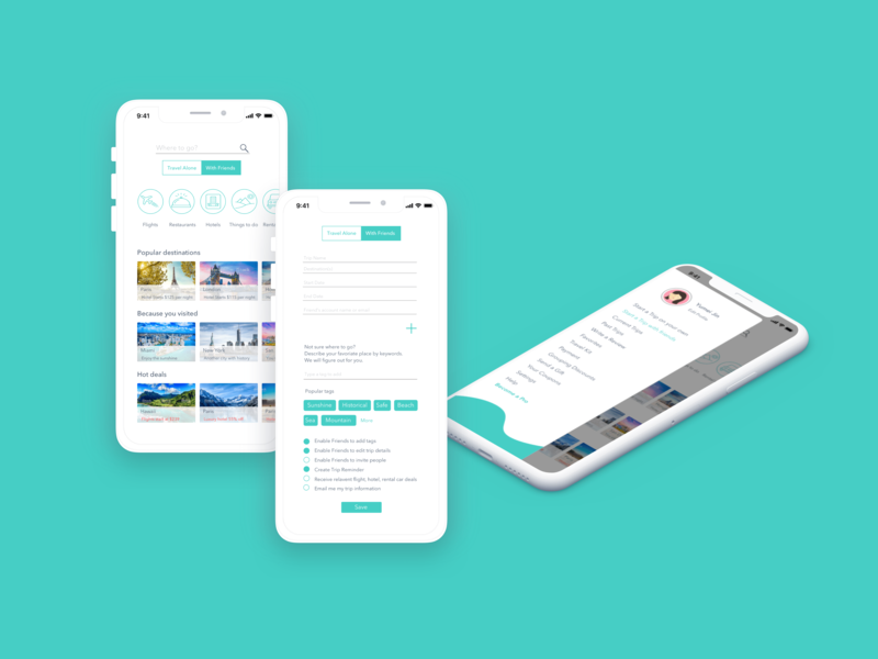 Trip Plan App design visual vector ux ui uxdesign uidesign app mobile trip planner trip travel