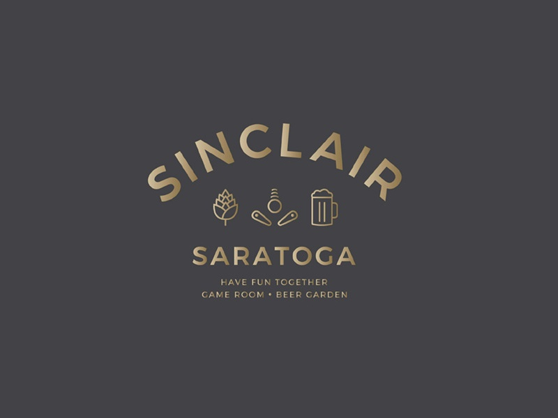 Sinclair Saratoga Logo identity beer gold icons logo branding