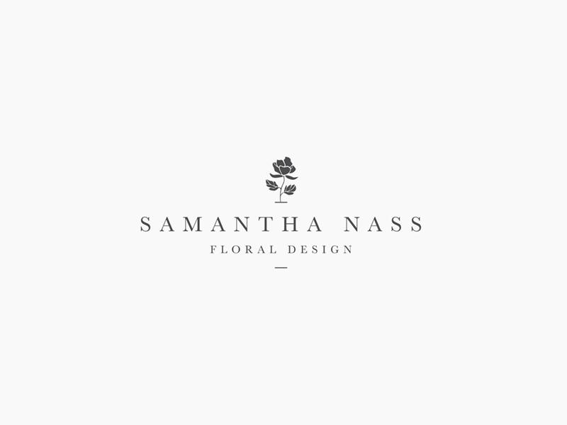 Samantha Nass Floral Design - logo floral design identity branding logo