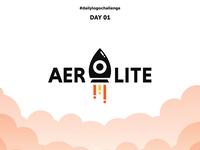 Day 01:  Aerolite - Rocket Logo