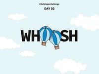 Day 02: Whoosh - Hot Air Balloon Logo