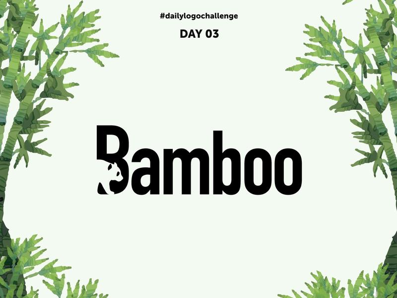 Day 03: Bamboo - Panda Logo day 03 design panda bamboo logo dailylogochallenge