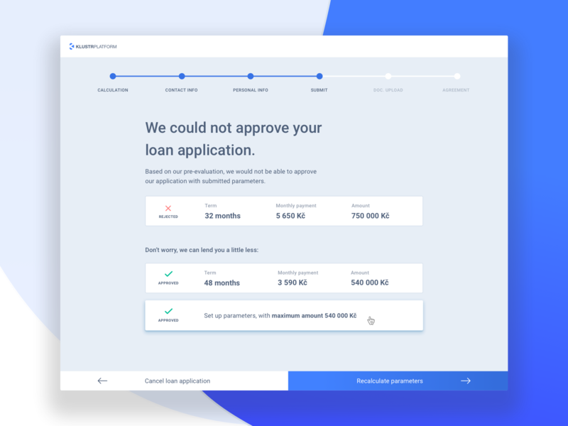 Loan Origination Platform webapplication interface design interface blue loans loan finance dashboard ux  ui uidesign ui web website platform