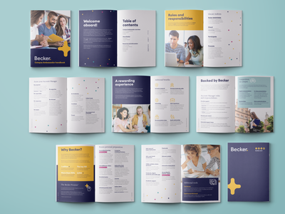 Becker Handbook print layout design page layout handbook book layout