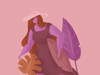 Exploration foliage character digital illustration digital art procreate illustration
