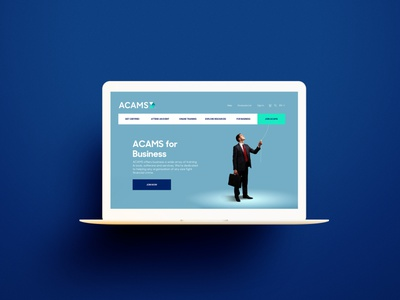 Acams Landing Page branding landing page website ui design web ui
