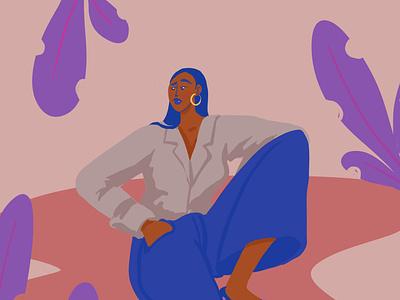 Lounge woman procreateapp character digital illustration procreate illustration
