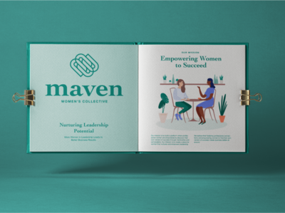 Maven Branding Book booklet book logo design branding