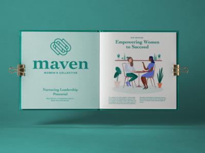 Maven Branding Book booklet book logo design branding
