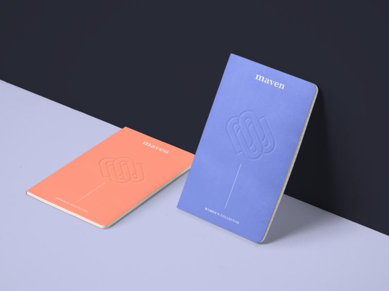 Maven Noteebooks merchandise branding and identity branding logo notebook mockup merch design merch notebook