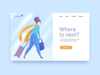 Travel Illustration Landing Page illustration ui procreate digital illustration