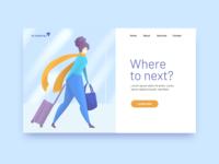 Travel Illustration Landing Page illustration ui procreate digital illustration