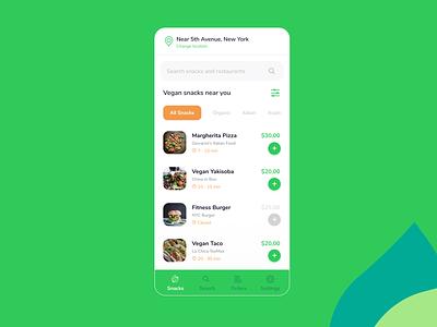 VeganGo   App Concept ui ux app design app