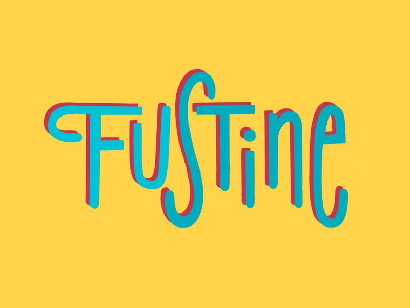 Funky Fustine custom typography type style graphic logo design procreate illustration lettering art customtype lettering