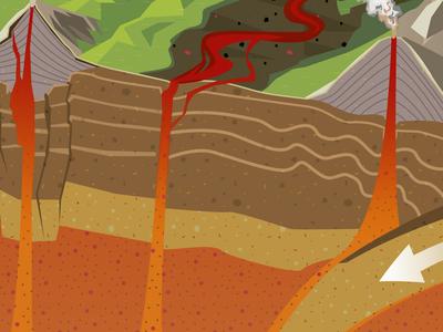 Volcanoes Vector Detail