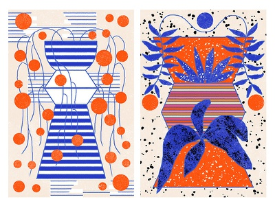forms illustration red cobalt blue geometric geometry shapes abstract