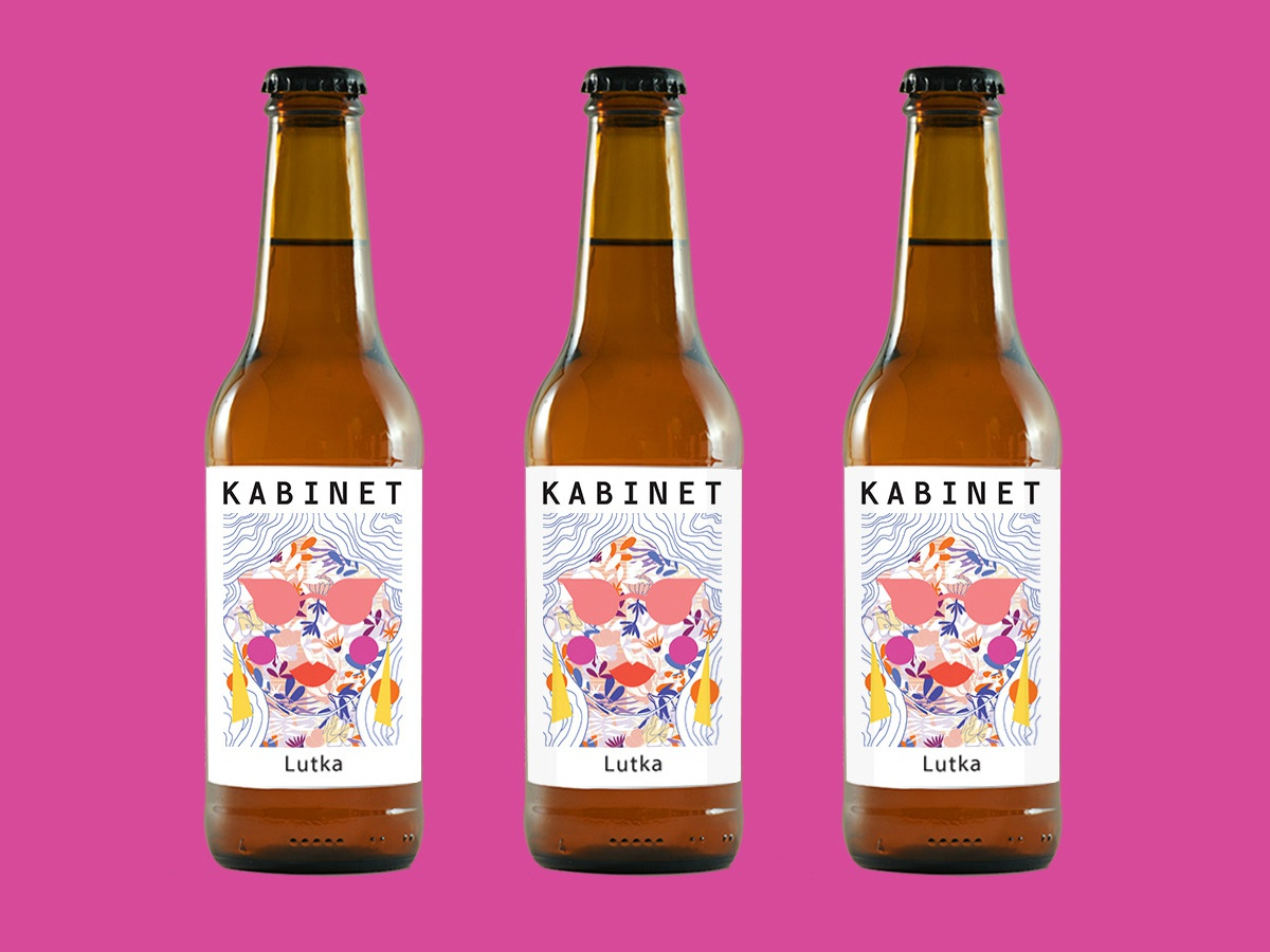 Label illustration for Kabinet's Brewery new beer face woman female flowers design retro abstract graphic design label design milica golubovic illustration brewery craft beer packaging beer label design beer label beer