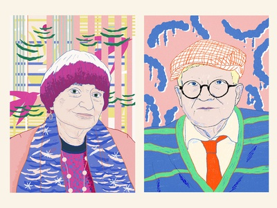 Agnes Varda | David Hockney | Portraits series