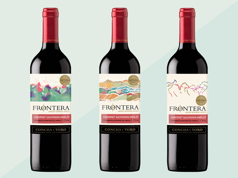 Frontera line label redesign vines design art redesign graphic design packagingdesign mountains label design vine label vine design milica golubovic abstract illustration